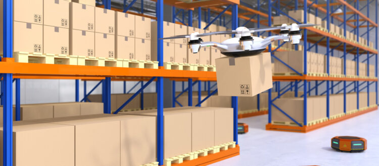 Warehouse of the future using drone delivery